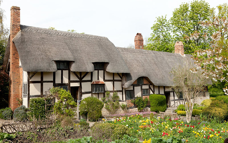 External View of Anne Hathaway's Cottage in Shakespeare's England