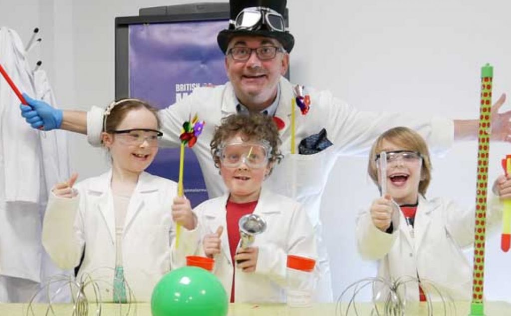 Summer fun science show at the British Motor Museum in Warwickshire