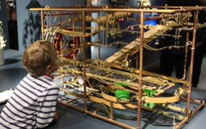 A Boy Enjoying the MAD Museum
