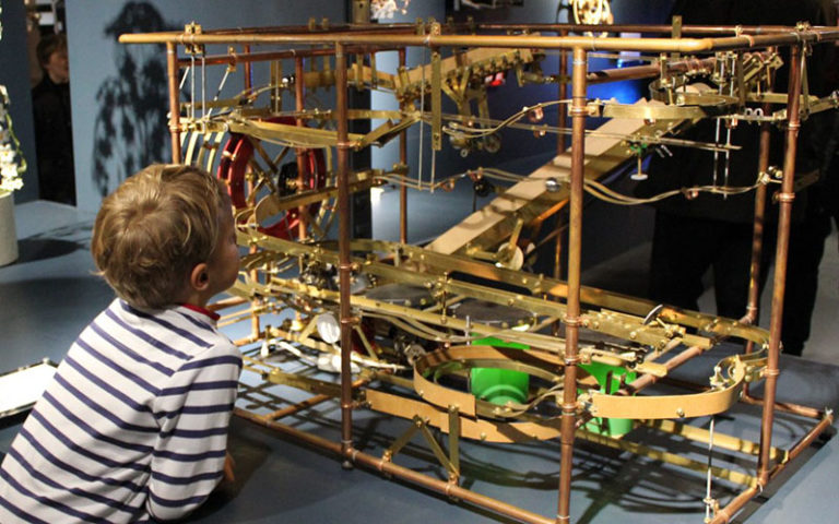 A Boy Enjoying the MAD Museum in Warwickshire