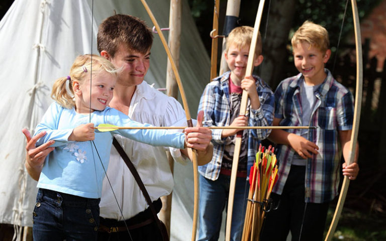 Children Learning Archery at Shakespeare's Birthplace