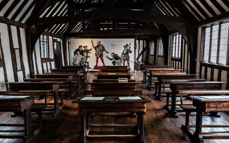 Shakespeare's Schoolroom in Stratford-upon-Avon