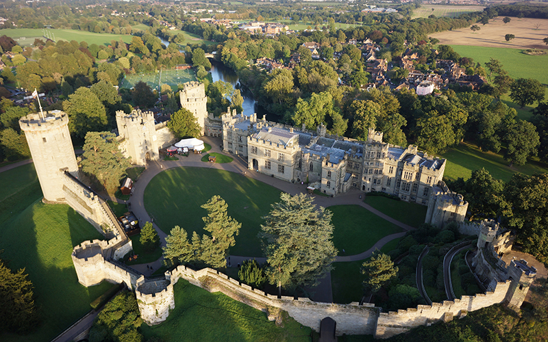 Warwick Castle - Courtyard Aerial View