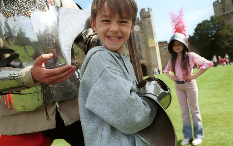 Boy at Warwick Castle