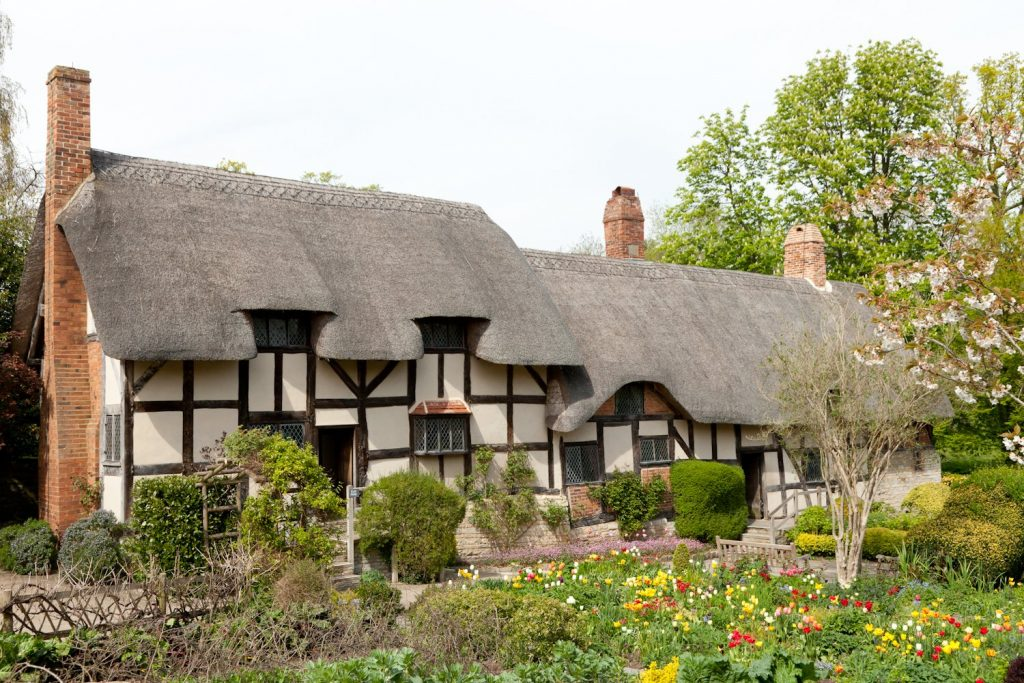 External View of Anne Hathaway's Cottage in Warwickshire