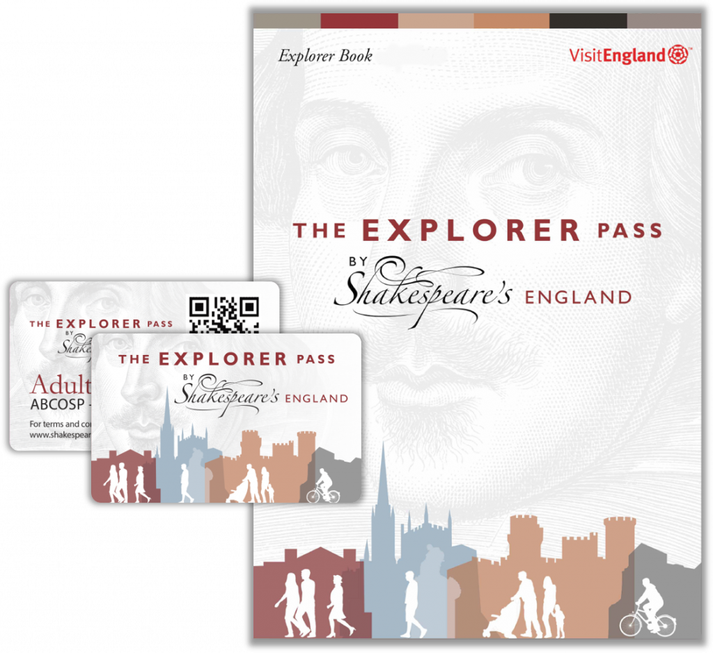 The ShakesPeare's England Explorer Pass and Booklet