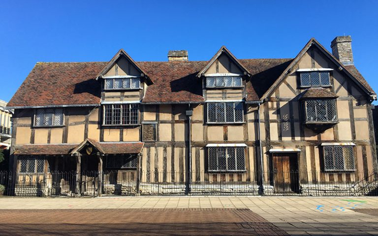 Shakespeare's birthplace in warwickshire
