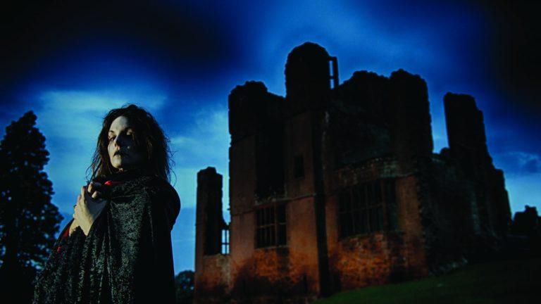 Kenilworth Castle in Warwickshire at Halloween