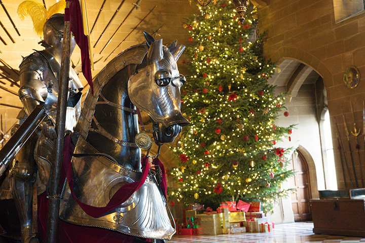 Warwick Castle Warwickshire at Christmas