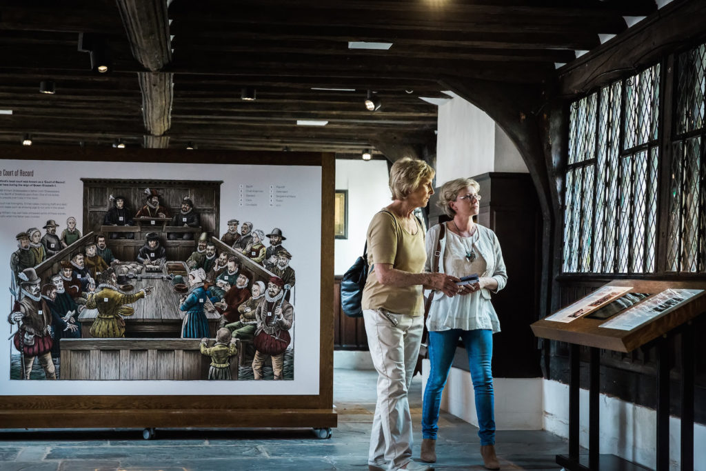 Visitors at Shakespeare's Schoolroom