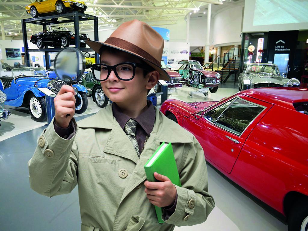 Boy at the British Motor Museum